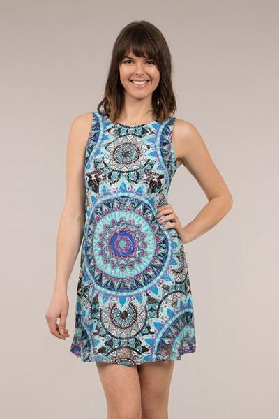 Printed Lace Dress