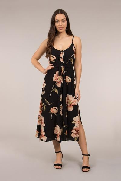 Button Through Strappy Dress