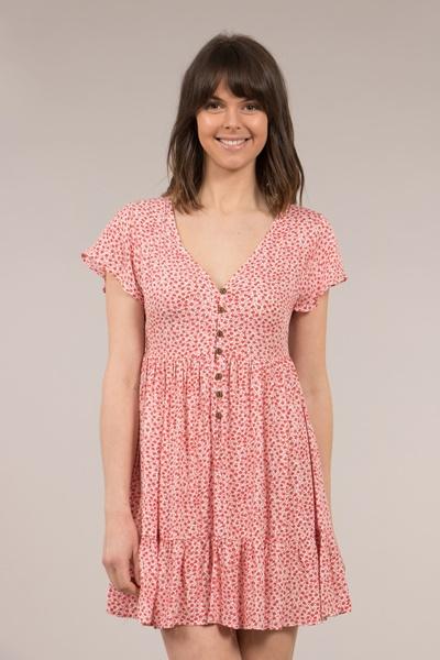 Front Button Short Dress