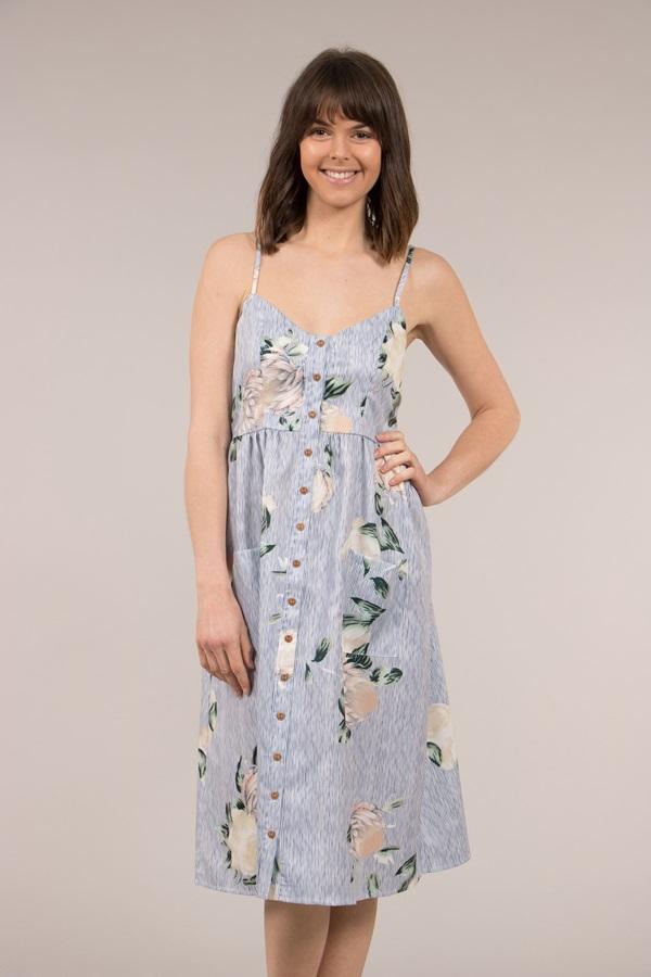 Summer Button Front Dress