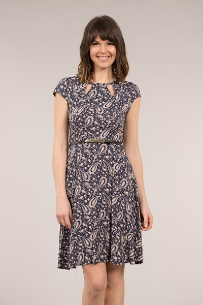 Paisley Cut Out Dress