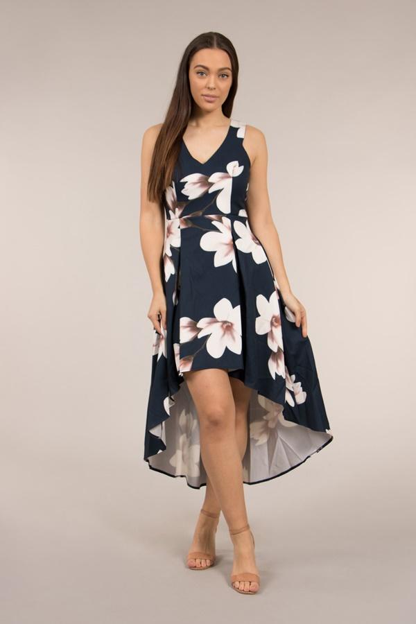 Hi Lo Floral Dress