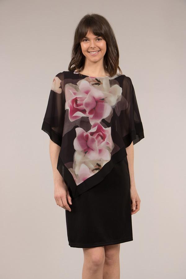 Cold Shoulder Layered Dress