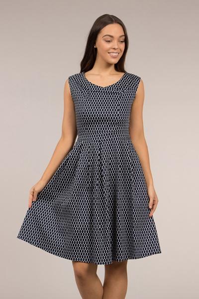Crossover Neckline Printed Dress