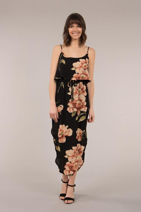 Asymmetric Hemline Cami Dress