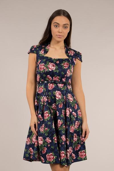 Cap Sleeve  Floral Dress