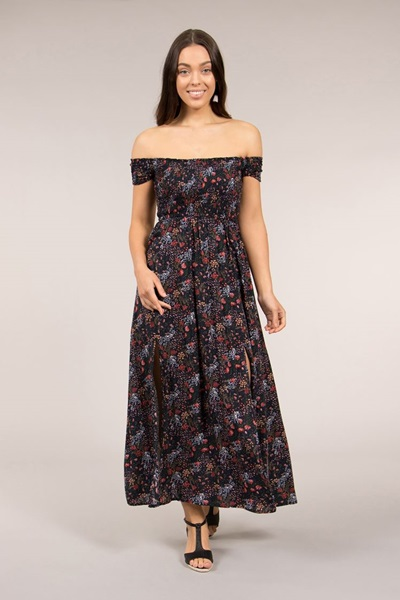 e5ecfd02b6 Shirred Maxi Dress