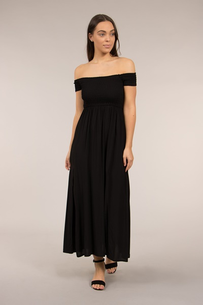 Off Shoulder Boho Long Dress