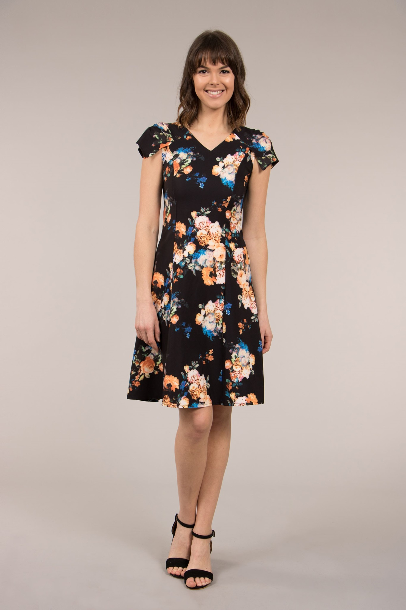 322ab17a21 Cap Sleeve Fit and Flare Dress – FEMME Connection