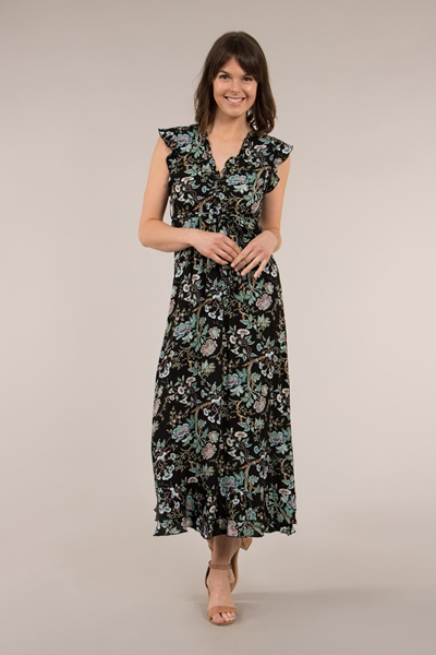 Frilled Maxi Dress