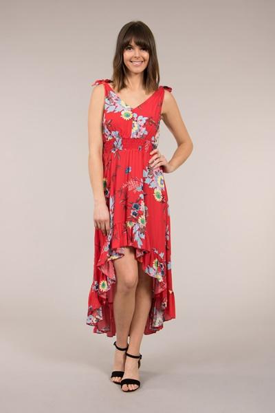 Hi Low Hem Floral Dress
