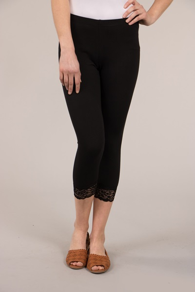 Classic 7/8 Leggings With Lace