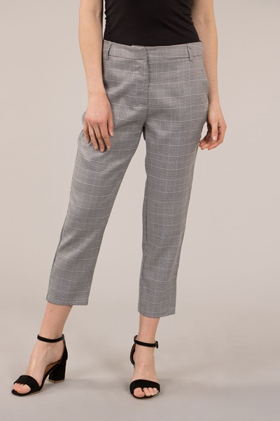 Plaid Fitted Pants