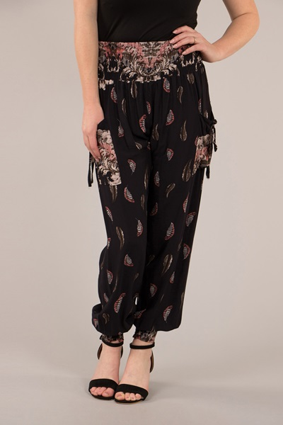 Printed Harem Pants