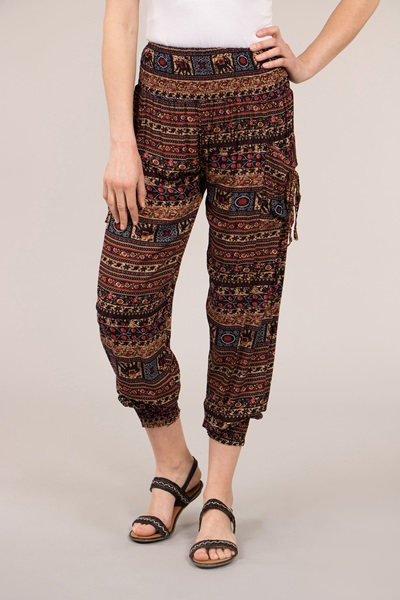 Elephant Printed Harem Pants