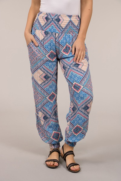 Geometrical Printed Harem Pants