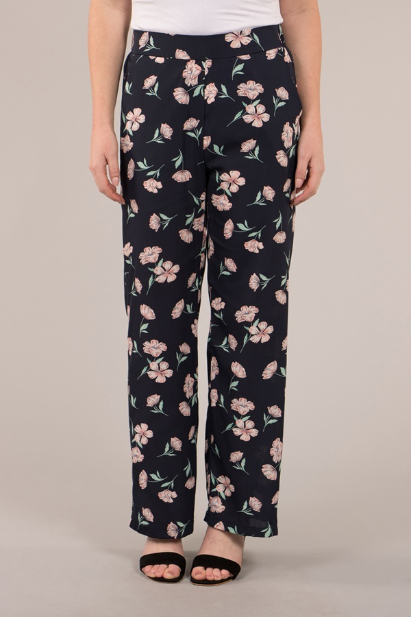Floral Printed Relaxed Pants