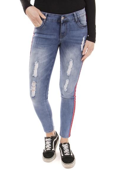Stripe Trim Jeans