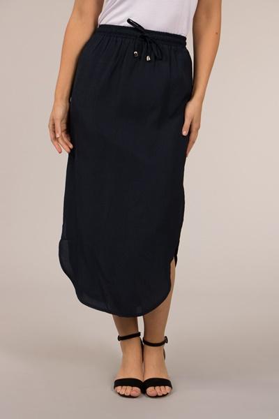 Curved Hem Skirt