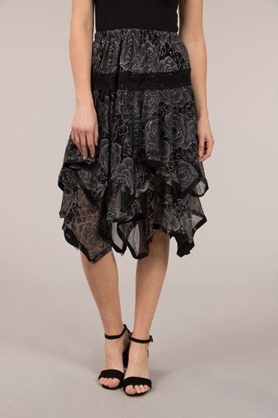 Rose Mesh Skirt
