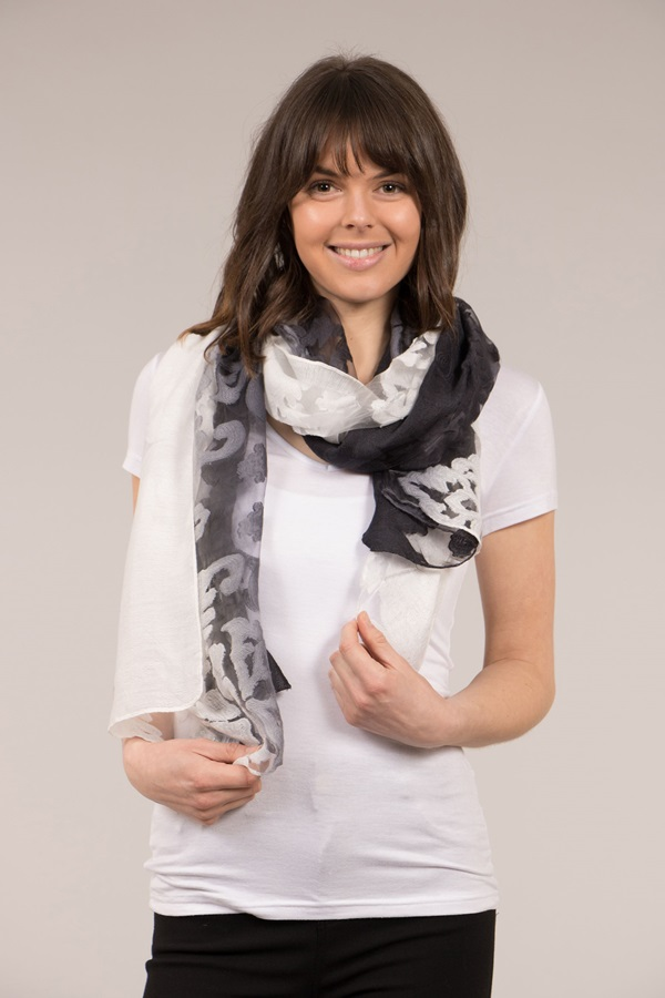 Two Tone Light Weight Scarf