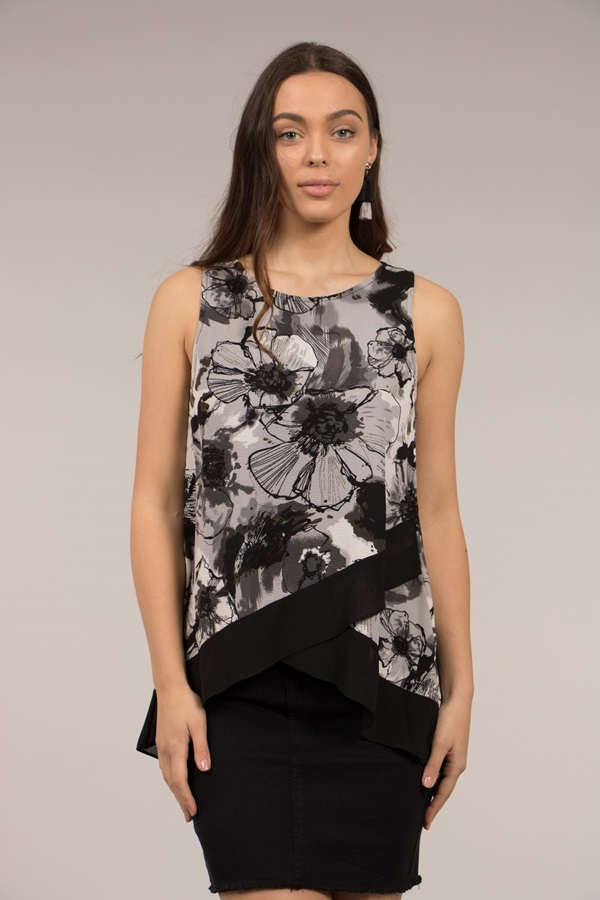 Crossover Floral Top