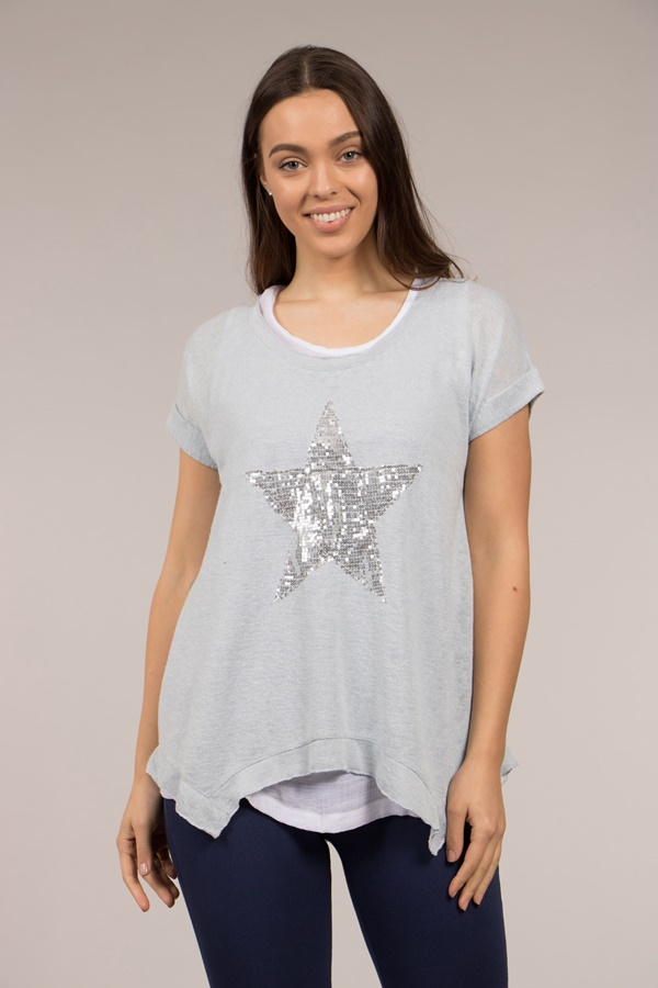 Glitter Star Double Layered Top