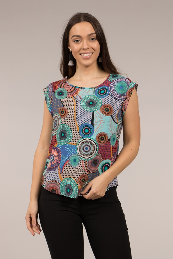 Printed Shell Top