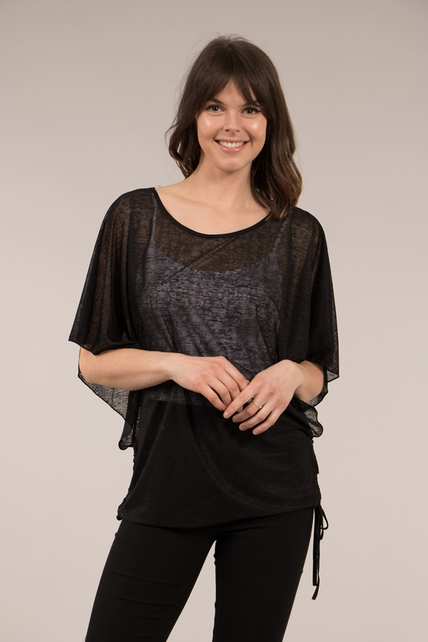 Batwing Round Neck Top