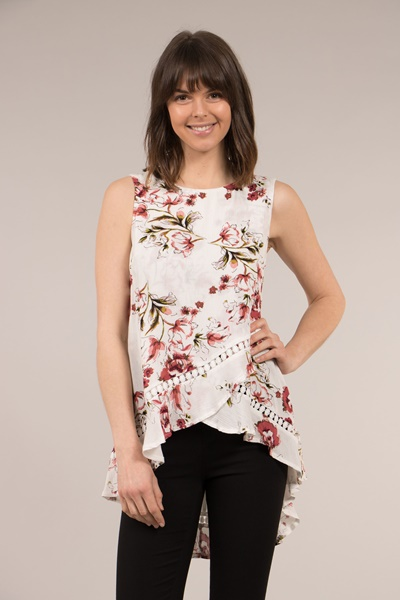 Floral Crossover Top