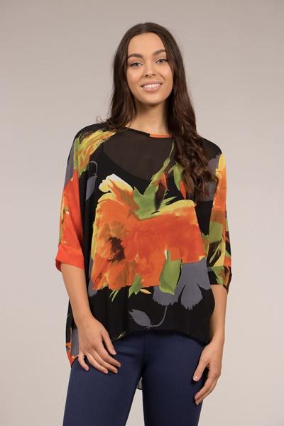 Dolman Sleeve Printed Top