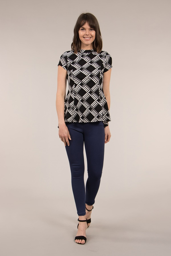 FITTED PEPLUM TOP