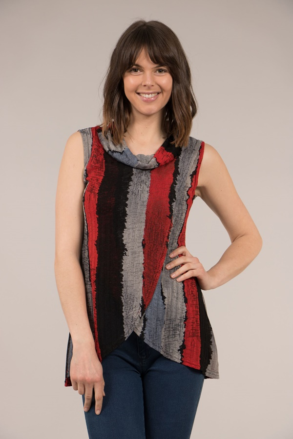 Crossover Cowl Neck Top