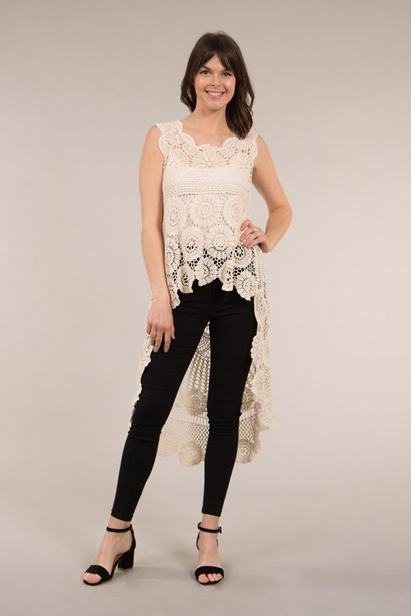 Sleeveless Crochet Tunic
