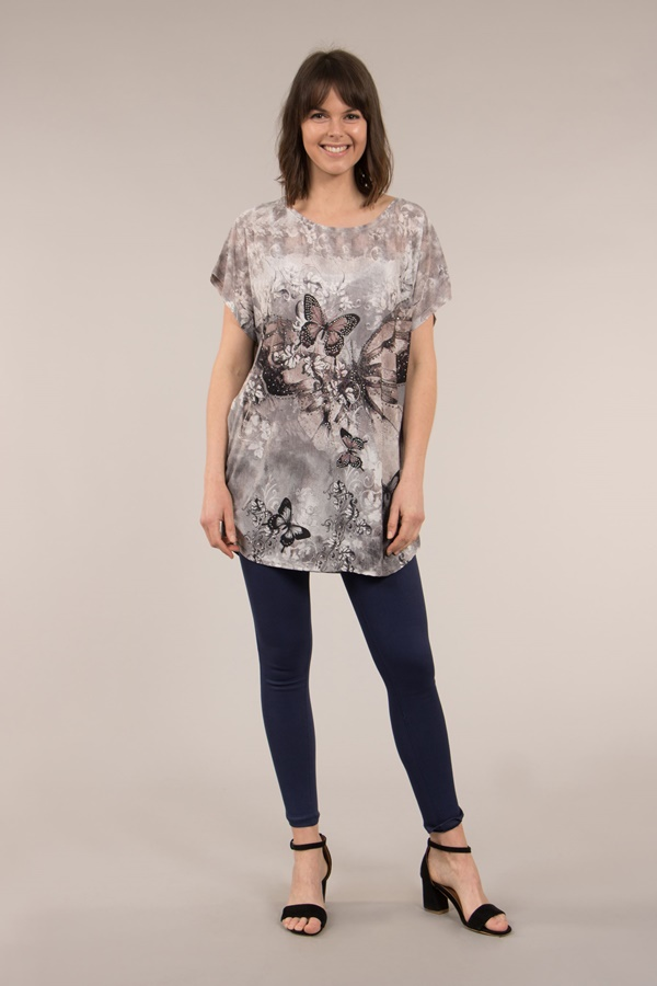 SHORT SLEEVES BUTTERFLY TOP